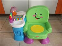 Scaun muzical FISHER PRICE - verde