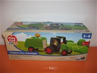 Tractor lemn PLAYTIVE cu remorca
